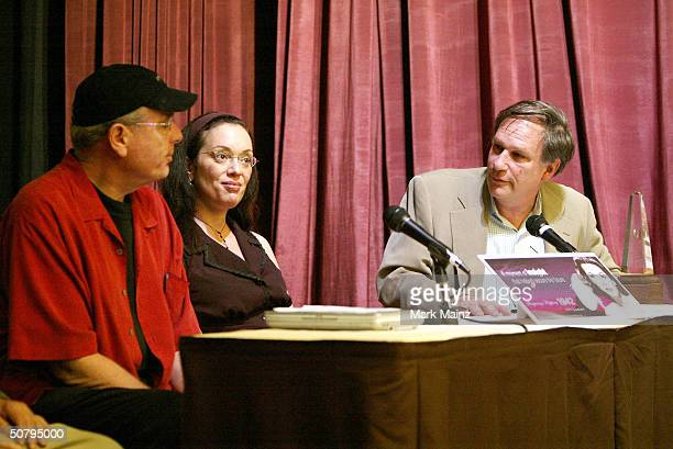 Anthony Loder filmmaker Gretchen Somerfeld and ABC News Correspondant Robert Krulwich speak at the 'Fatale Weapon The Unsung Legacy Of Hedy Lamarr'...
