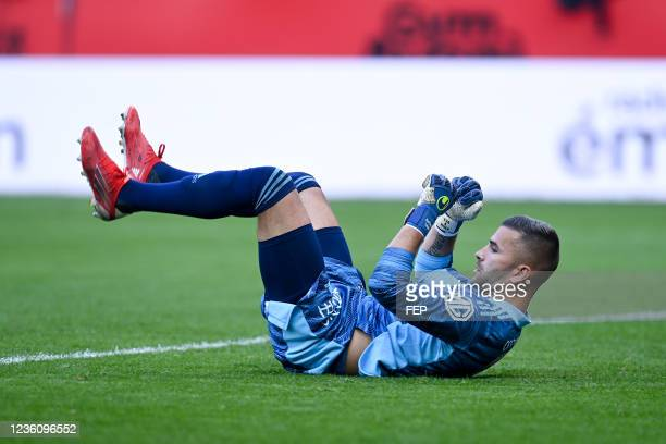 Anthony LOPES during the Ligue 1 Uber Eats match between Nice and Lyon at Allianz Riviera on October 24, 2021 in Nice, France.