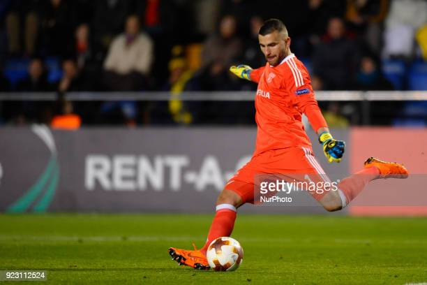 Anthony Lopes during the match between Villarreal CF against Olympique of Lyon Round of 32 2nd leg of UEFA Europa League at Ceramica stadium...