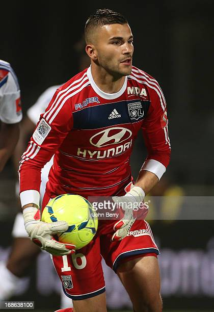 Anthony Lopes goalkeeper of Lyon in action during the Ligue 1 match between Olympique Lyonnais OL and Paris SaintGermain FC PSG at the Stade Gerland...