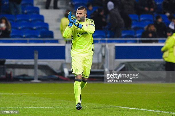 Anthony LOPES of Lyon during the Champions League match between Lyon and Sevilla at Stade des Lumieres on December 7 2016 in DecinesCharpieu France