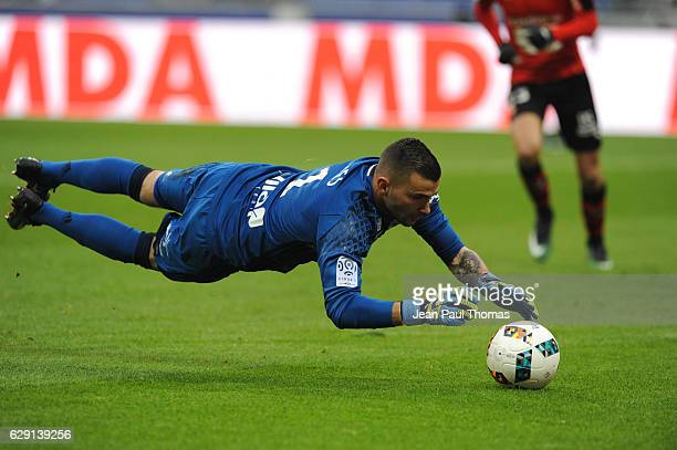 Anthony LOPES of Lyon during the French Ligue 1 match between Lyon and Rennes at Stade des Lumieres on December 11 2016 in Decimes France