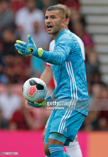 Anthony Lopes of Lyon during the Pre-Season Friendly match between AFC Bournemouth and Lyon at Vitality Stadium on August 3, 2019 in Bournemouth,...