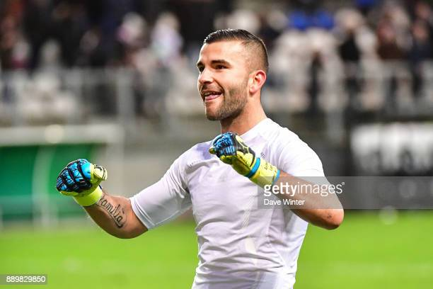 Anthony Lopes of Lyon following the Ligue 1 match between Amiens SC and Olympique Lyonnais at Stade de la Licorne on December 10 2017 in Amiens France