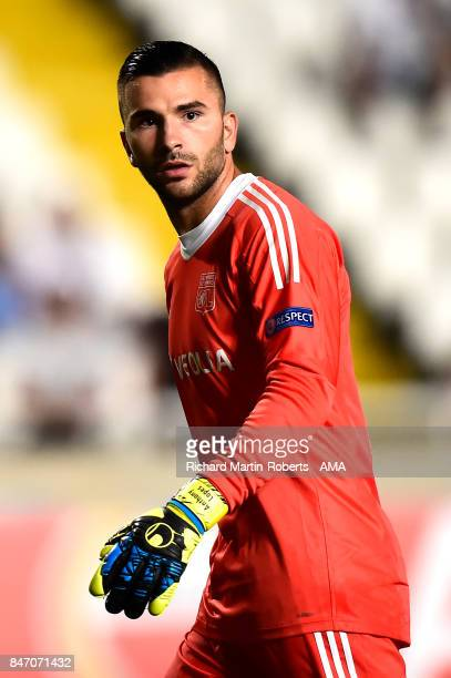 Anthony Lopes of Olympique Lyonnais looks on during the UEFA Europa League group E match between Apollon Limassol and Olympique Lyon at GSP Stadium...