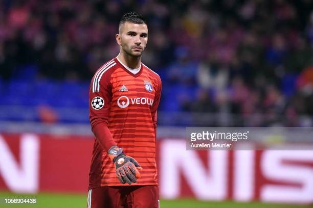 Anthony Lopes of Olympique Lyonnais reacts during the Group F match of the UEFA Champions League between Olympique Lyonnais and TSG 1899 Hoffenheim...