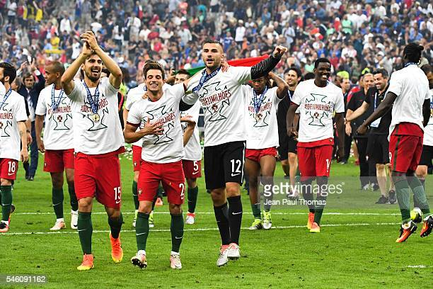 Anthony Lopes of Portugal during the European Championship Final between Portugal and France at Stade de France on July 10 2016 in Paris France