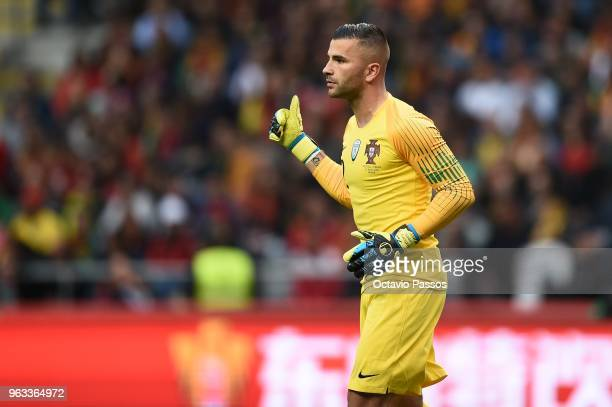 Anthony Lopes of Portugal during the international friendly football match against Portugal and Tunisia at the Municipal stadium de Braga on May 28...