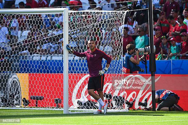 Anthony LOPES of Portugal during the UEFA EURO 2016 Group F match between Hungary and Portugal at Stade des Lumieres on June 22 2016 in Lyon France