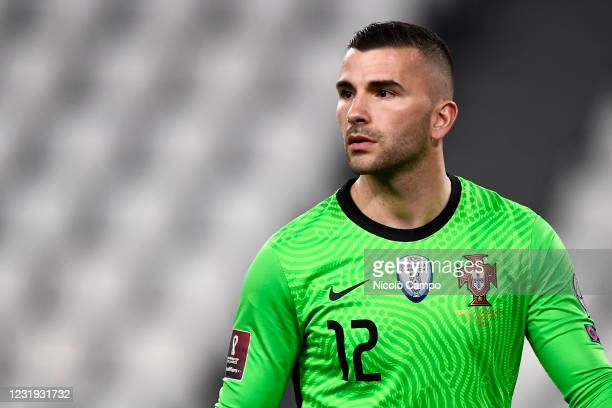 Anthony Lopes of Portugal looks on during the FIFA World Cup 2022 Qatar qualifying football match between Portugal and Azerbaijan. Portugal face...