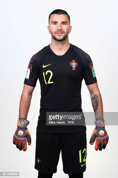 Anthony Lopes of Portugal poses for a portrait during the official FIFA World Cup 2018 portrait session at the Saturn training base on June 10 2018...