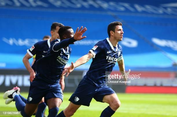 Anthony Losilla of VfL Bochum 1848 celebrates scoring the second goal during the Second Bundesliga match between VfL Bochum 1848 and SV Sandhausen at...