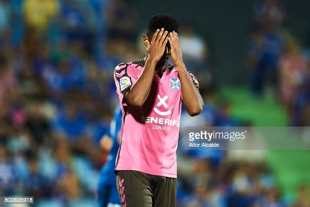 Anthony Lozano of CD Tenerife reacts during La Liga 2 play off round between Getafe and CD Tenerife at Coliseum Alfonso Perez Stadium on June 24 2017...