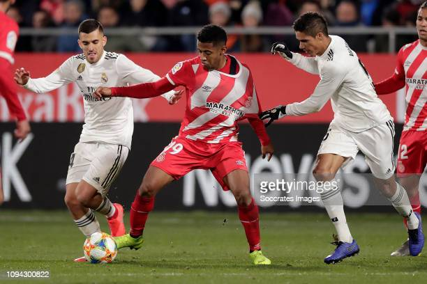 Anthony Lozano of Girona during the Spanish Copa del Rey match between Girona v Real Madrid at the Estadi Municipal Montilivi on January 31, 2019 in...