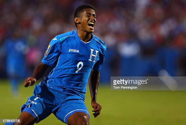 Anthony Lozano of Honduras reacts during the 2015 CONCACAF Gold Cup Group A match between USA and Honduras at Toyota Stadium on July 7 2015 in Frisco...