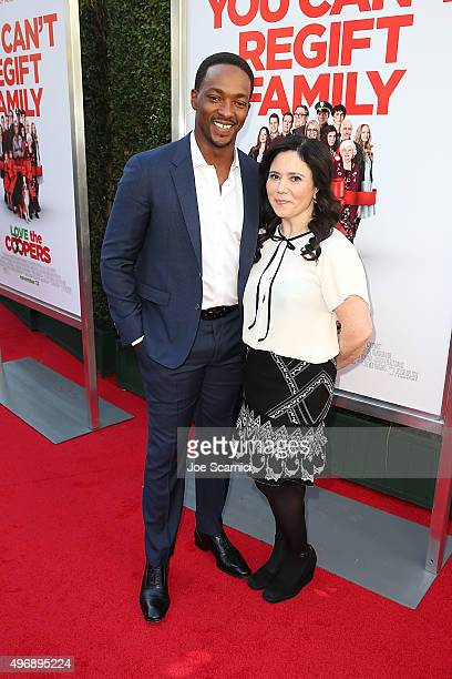 Anthony Mackie and Alex Borstein attend sthe 'Love The Coopers' Holiday Luncheon Benefiting The LA Regional Food Bank at The Grove on November 12...