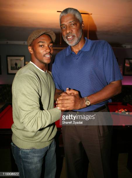 Anthony Mackie and Julius Erving during 'The Underground' New York Premiere Hosted by Damon Wayans and Showtime at 40/40 in New York City New York...