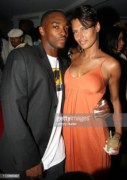 Anthony Mackie and Shakara of Bunny Chow's during The Rhodes Foundation Launch at TBD in New York City New York United States