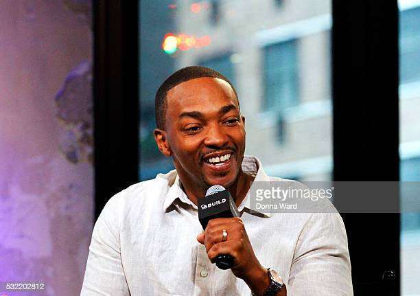 Anthony Mackie appears to promote 'All The Way' during the AOL BUILD Series at AOL on May 18 2016 in New York City