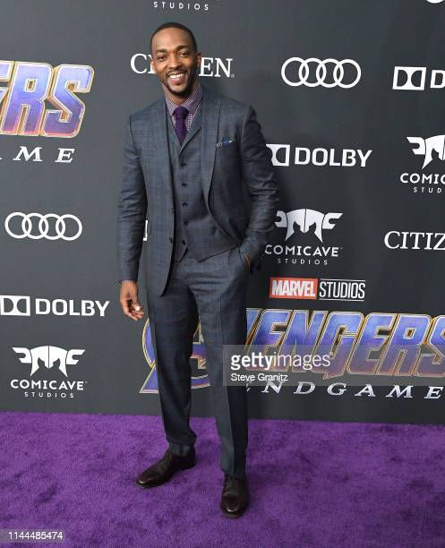 """Anthony Mackie arrives at the world premiere Of Walt Disney Studios Motion Pictures """"Avengers: Endgame"""" at Los Angeles Convention Center on April 22,..."""