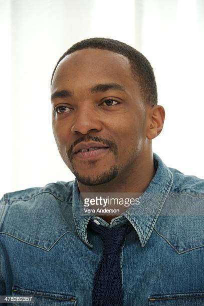 Anthony Mackie at the Captain America The Winter Soldier Press Conference at the Four Seasons Hotel on March 11 2014 in Beverly Hills City