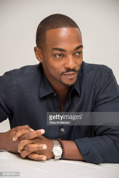 Anthony Mackie at the Detroit Press Conference at the Four Seasons Hotel on August 4 2017 in Beverly Hills California