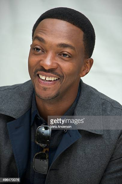 Anthony Mackie at the 'Shelter' Press Conference at The Beverly Hilton Hotel on November 8 2015 in Beverly Hills CA