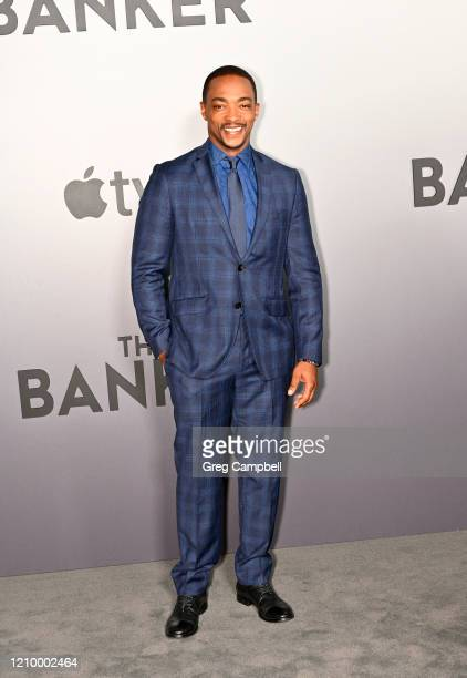 Anthony Mackie at the world premiere of The Banker at the National Civil Rights Museum on March 02 2020 in Memphis Tennessee The Banker opens in...