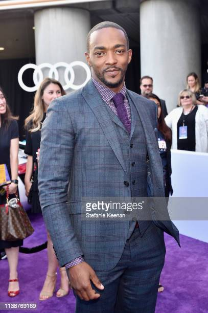 Anthony Mackie attends Audi Arrives At The World Premiere Of Avengers Endgame on April 22 2019 in Hollywood California