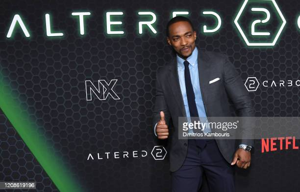 Anthony Mackie attends Netflix's Altered Carbon Season 2 Photo Call at AMC Lincoln Square Theater on February 24 2020 in New York City