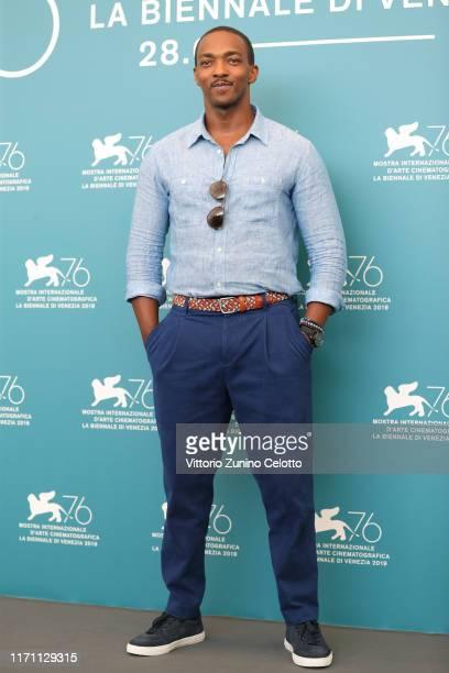 Anthony Mackie attends Seberg photocall during the 76th Venice Film Festival at Sala Grande on August 30 2019 in Venice Italy