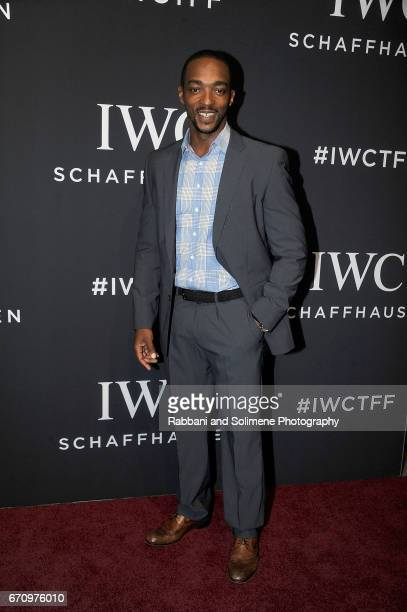 Anthony Mackie attends the 2017 IWC Schaffhausen 'For The Love Of Cinema' Gala Dinner at Spring Studios on April 20 2017 in New York City