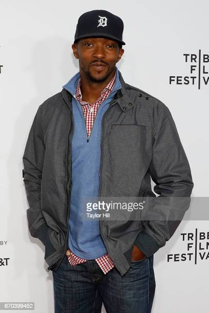 Anthony Mackie attends the Clive Davis The Soundtrack of Our Lives 2017 Opening Gala of the Tribeca Film Festival at Radio City Music Hall on April...