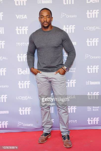 Anthony Mackie attends The Hate U Give Press Conference during 2018 Toronto International Film Festival at TIFF Bell Lightbox on September 8 2018 in...