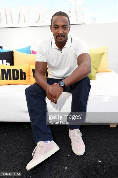 Anthony Mackie attends the #IMDboat at San Diego ComicCon 2019 Day Three at the IMDb Yacht on July 20 2019 in San Diego California