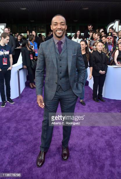 Anthony Mackie attends the Los Angeles World Premiere of Marvel Studios' Avengers Endgame at the Los Angeles Convention Center on April 23 2019 in...