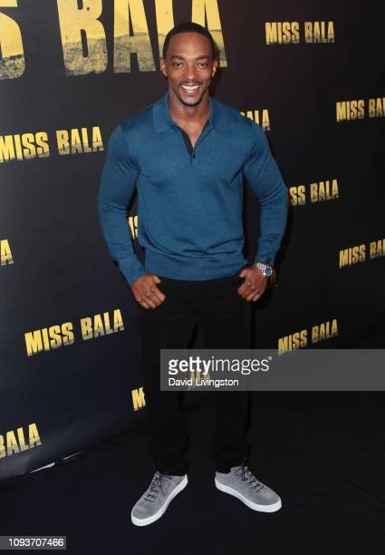Anthony Mackie attends the Miss Bala photo call at The London Hotel on January 13 2019 in West Hollywood California