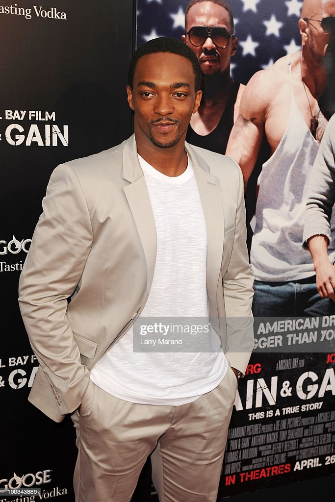 Anthony Mackie attends the 'Pain & Gain' premiere on April 11, 2013 in Miami Beach, Florida.