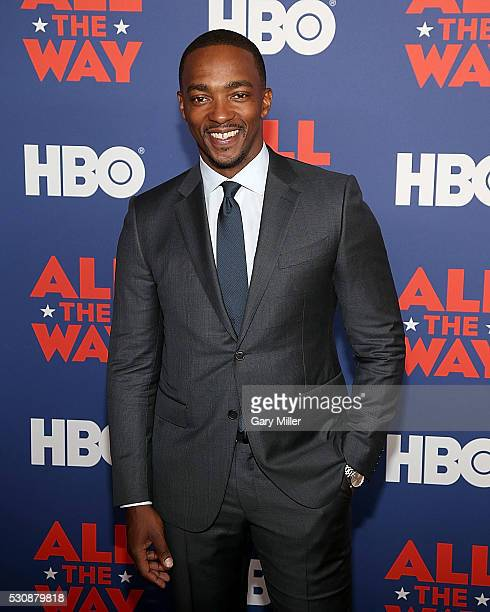 Anthony Mackie attends the Premiere Of HBO's 'All The Way' at the Lyndon Baines Johnson Library and Museum on May 11 2016 in Austin Texas