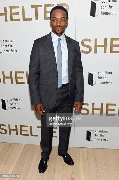 Anthony Mackie attends the 'Shelter' New York Premiere at The Whitney Museum of American Art on November 11 2015 in New York City