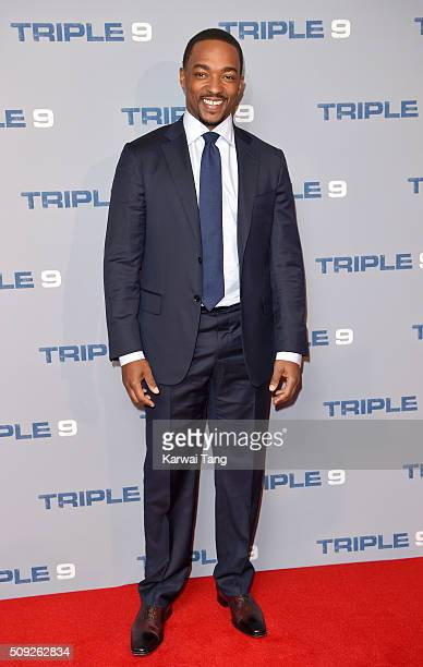 Anthony Mackie attends the Special Screening of 'Triple 9' at Ham Yard Hotel on February 9 2016 in London England