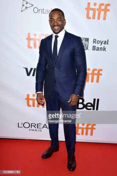 Anthony Mackie attends the The Hate U Give premiere during 2018 Toronto International Film Festival at Roy Thomson Hall on September 7 2018 in...