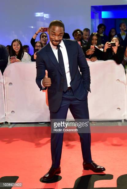 Anthony Mackie attends the 'The Hate U Give' premiere during 2018 Toronto International Film Festival at Roy Thomson Hall on September 7 2018 in...