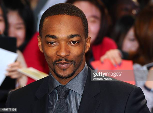 Anthony Mackie attends the UK Film Premiere of Captain America The Winter Soldier at Westfield London on March 20 2014 in London England