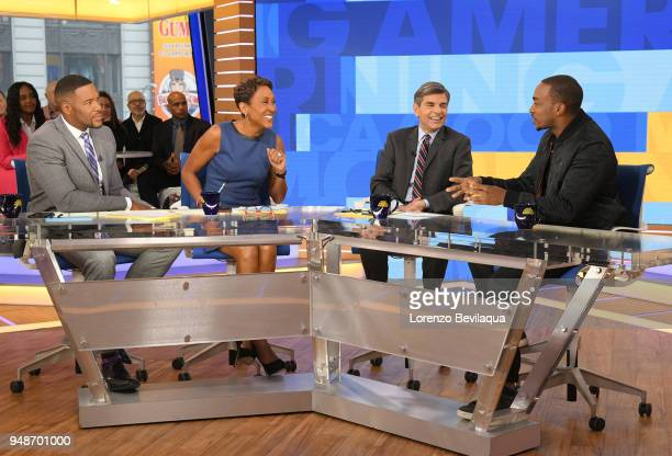 AMERICA Anthony Mackie is a guest on 'Good Morning America' Thursday April 19 airing on the ABC Television Network MICHAEL