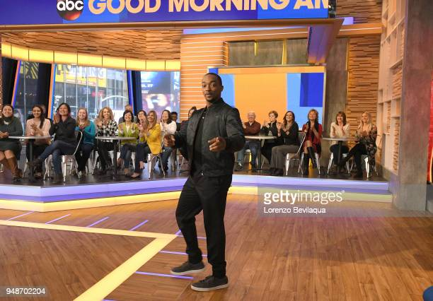 AMERICA Anthony Mackie is a guest on 'Good Morning America' Thursday April 19 airing on the ABC Television Network ANTHONY