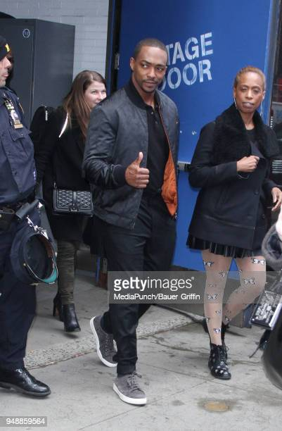 Anthony Mackie is seen on April 19 2018 in New York City