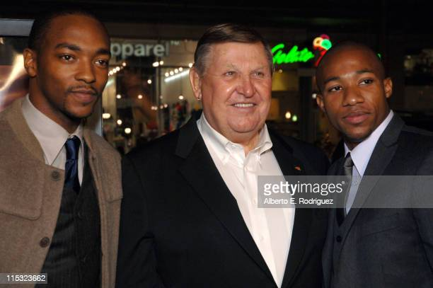 Anthony Mackie Jack Lengyel and Arlen Escarpeta during 'We Are Marshall' Los Angeles Premiere in Los Angeles CA United States