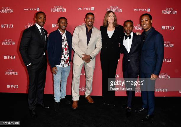 Anthony Mackie Malcolm David Kelley Laz Alonso honoree Kathryn Bigelow Algee Smith and Tyler James Williams attend the SAGAFTRA Foundation Patron of...