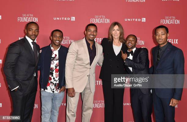 Anthony Mackie Malcolm David Kelley Laz Alonso honoree Kathryn Bigelow Algee Smith and Tyler James Williams arrive at SAGAFTRA Foundation Patron of...